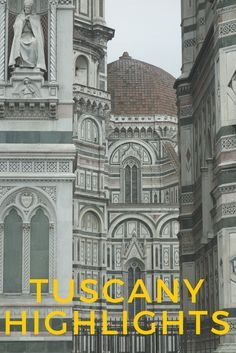 Highlights of a week in northern Tuscany including the major attractions of Florence and Pisa and other top things to do and see.