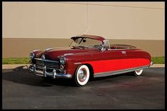 A great 1949 Hudson Commodore 8 in two shades of red. #vintage #1940s #cars