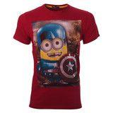 """Πατήστε και κερδίστε 5% Ανδρικό T-shirt  """"Captain America"""" Κόκκινο Minions #www.pinterest.com/brands4all"""