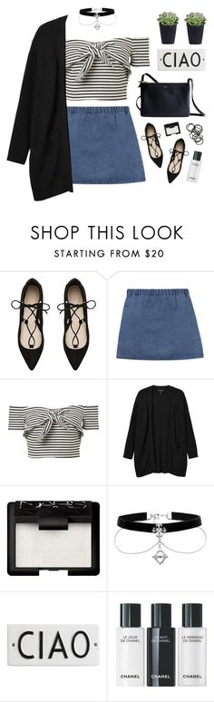 """""""let me be your friend, baby let me in"""" by silvanacavero ❤ liked on Polyvore featuring Witchery, Monki, CÉLINE, NARS Cosmetics and Rosanna"""