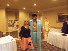 "Linda Shuping Smith updated her cover photo. Yesterday at 12:09am ·  Heimdal's ""Back to the 50s on the Holodeck"" 33rd. Anniversary Party. Me in the poodle skirt. Willy in his 50s pimp suit & hair ... LOL Such fun ..."