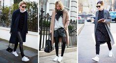 С чем носить: белые кроссовки / Мода и красота