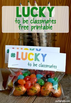 St. Patrick's Day Lucky to be Classmates Printable