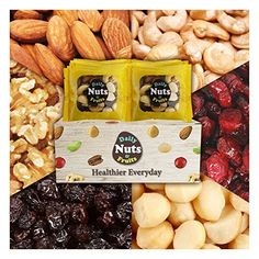 Six Healthy Mix Nuts,32 PACKS(1oz), 2 LBS (Almonds 30%, Walnuts 20%, Macadamia nuts 15%, Cashews 15%, Raisin 10%, Cranberries 10%), No Artificial, Unsalted, Natural, Premium Nuts, On the Go * To view further for this item, visit the image link. (This is an affiliate link) #healthysnacknuts