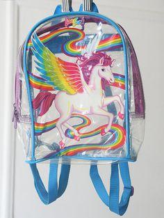 Yesss- Lisa Frank unicorn backpack! #LisaFrank #90s #childhood