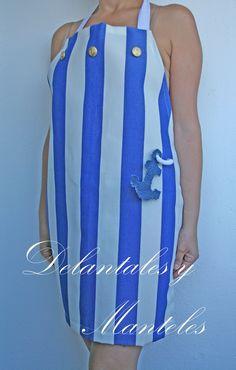 Delantal Marinero, delantal de rayas, sailor aprons, apron original, delantal original,