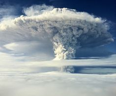 Ash and steam erupting from the Puyehue-Cordon Caulle volcanic chain near Osorno city, Chile on June 5, 2011