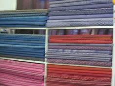 Shwe shwe fabric in Gaborone store