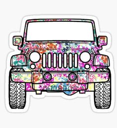 Floral Jeep Decal Sticker