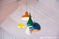 Retro color ceiling lamp - Event Avenue