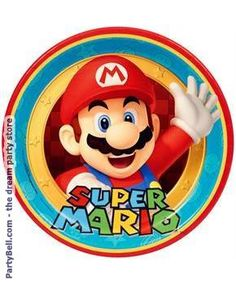 Hard To Find Party Supplies - Super Mario Brothers Large Paper Plates Super Mario Party, Super Mario Bros, Super Mario Birthday, Mario Birthday Party, Super Mario Brothers, 3rd Birthday, Zelda Birthday, Birthday Parties, Birthday Supplies