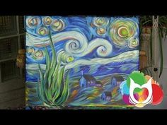 Starry Night Time Lapse. Watch a Personal Painting Party gem come to life in about a minute. By Cinnamon Cooney for Hart Party