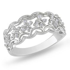 I've tagged a product on Zales: Diamond Accent Scallop Band in Sterling Silver
