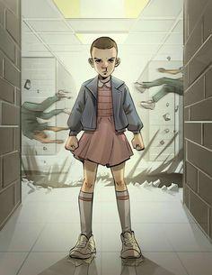 Eleven in cartoon art form