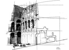 Colosseum section sketch