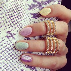 Nails and rings. Toe Nail Art, Toe Nails, Very Skinny Girls, Pastel Nails, Simple Nails, Girly Things, Hair And Nails, Nail Art Designs, Jewelery