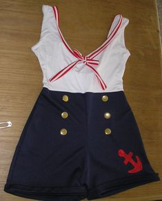 VESTIDO marinerO Sailor Birthday, Sailor Party, Hot Halloween Costumes, Diy Costumes, Sailor Fancy Dress, Sailor Costumes, Jasmine Costume, Fantasias Halloween, Halloween Disfraces