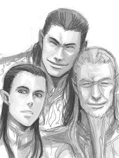smily by yogo0.deviantart.com on @deviantART. Young Elrond, Gil-galad and Cirdan. Cute! =)