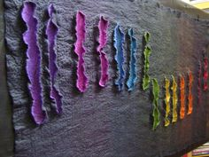 It is still wet but I couldn't wait to pin it. *Wetfelted wall hanging* by Stella Starlight