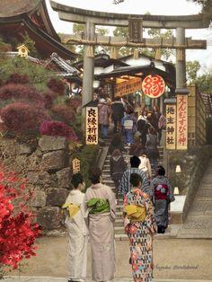 Kiyomizu-dera,( templo del agua pura )es el más querido  de los templos en Kioto y es uno de los parajes más bellos