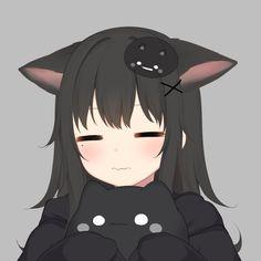 Anime Girl With Black Hair, Dark Anime Girl, Manga Anime Girl, Anime Girl Drawings, Anime Couples Drawings, Anime Neko, Cute Anime Profile Pictures, Cute Anime Pics, Cute Anime Couples