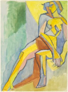Lhote André   (French, 1885  - 1962) Seated Nude (Nu assis), 1939
