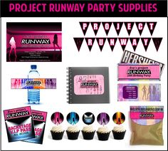 Printable Project Runway Party Supplies