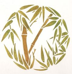 Reusable Stencil Bamboo grove MED - Easy Wall Decor with Stencils