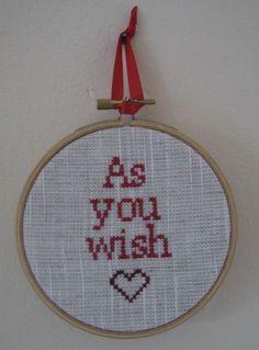 crossstitch quotes in hallway :)