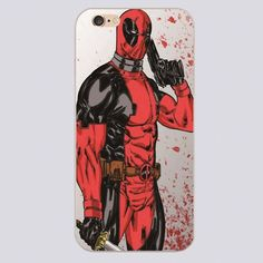 Deadpool cell phone cases for iphone 4 4s 5 5c 5s 6 6s 6plus hard shell
