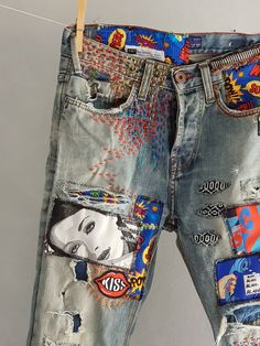 Stone bleanched Jeans Girls Batik Jeans Femmes taille 38-w29 stone bleanched