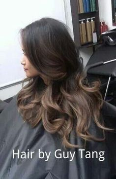 Stunning bayalage/ombré hair! Perfect for dark hair, no need to go blond at the tips