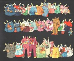 PAPER DOLLS-TEN DOLLS WITH DRESSES, HATS AND PLAYTHINGS 1932 | eBay