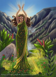 """Elements Earth:  """"Dance of Creation: Earth Goddess,"""" by faerywitch, at deviantART."""