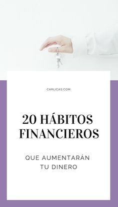 Finanzas Personales - 20 Hábitos financieros que aumentarán tus ingresos y te ayudarán a ahorrar y pagar tus deudas. #ahorrardinero #finanzaspersonales #finanzas #pagardeudas Business Advice, Business Planning, Money Tips, Money Saving Tips, Bussines Ideas, Finance Quotes, Act Like A Lady, Financial Tips, Self Improvement