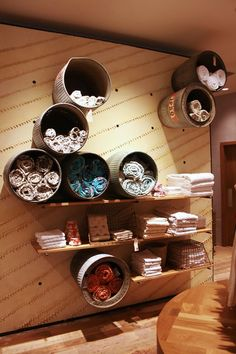 Great idea for storage in a mud room at a vacation cabin or beach house.  Kid's room idea too; just add color.
