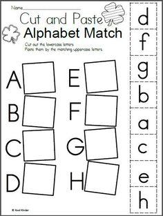 Free St. Patrick's Day Alphabet Matching Worksheet