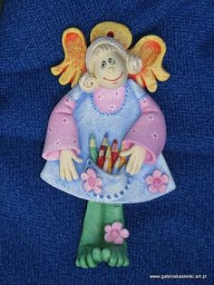 Aniołek autorstwa Katarzyny Pyrcz-Tłuczek; salt dough angel