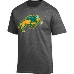 Champion Men's North Dakota State Bison Grey Big Soft T-Shirt, Size: Medium, Team