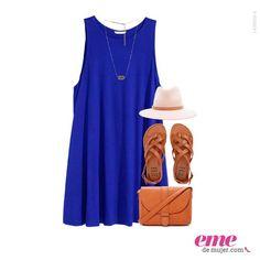 #OutfitEme Los sombreros son un accesorio ideal para este tipo de vestido. Para saber más de moda y ser toda una fashionista entra en nuestra página web http://ve.emedemujer.com/moda/