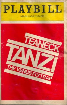 Teaneck Tanzi: The Venus Flytrap, 1983 'Teaneck Tanzi is an Americanized, retitled version of London's biggest comedy hit since 'Steaming,' and its charm must have bailed out somewhere over the Atlantic. What we find at the Nederlander is a theatrical gimmick whose execution produces a pounding sensation in every part of one's head except the brain,' wrote The New York Times. It closed in Broadway after just one performance.