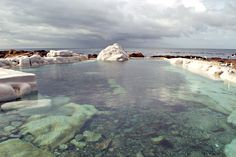 These serene tidal pools offer safety, seclusion and scenic surrounds. Best of all, they don't need top-ups from the city's water supply. Tide Pools, Water Supply, Cape Town, Serenity, South Africa, Natural Pools, City, Nature, Outdoor