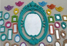 kit 30 espelhos provence colors - decoração decorei