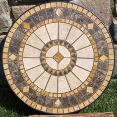 Resultado de imagem para mosaic rose on round table