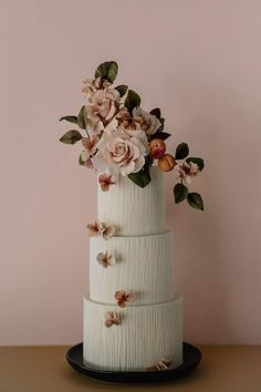 Bespoke Custom Cakes in Singapore by Winifred Kristé Cake Fancy Wedding Cakes, Creative Wedding Cakes, Floral Wedding Cakes, Amazing Wedding Cakes, Wedding Cakes With Flowers, Wedding Cake Designs, Fancy Cakes, Wedding Cake Toppers, Amazing Cakes