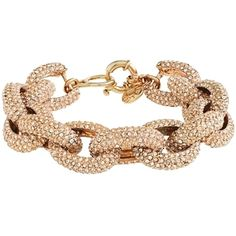 J.Crew Pre-owned Brand New - J Crew Classic Pave Bracelet ($141) ❤ liked on Polyvore featuring jewelry, bracelets, accessories, none, jade bangle, pandora jewelry, 14k bangle, chunky bracelet and pave bracelet