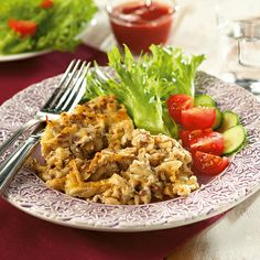 Soijarouhe-makaronilaatikko My Cookbook, Fried Rice, Nom Nom, Fries, Vegetarian, Pasta, Meat, Chicken, Ethnic Recipes