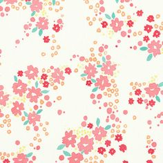 LUNADA BAY (Voile): Sweet & feminine floral prints in water colour shades $14.95