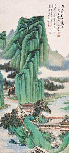 Zhang Daqians Landscape   Chinese Painting   China Online Museum