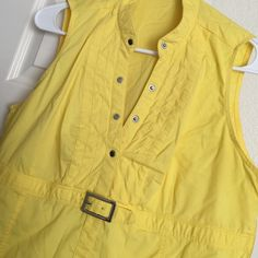 Express sleeveless shirt Express sleeveless shirt. Size L. Yellow. Awesome shape. Express Tops
